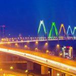 những cây cầu bắc qua sông hồng