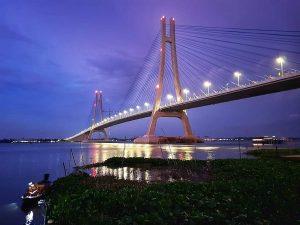 cầu vàm cống dài bao nhiêu km