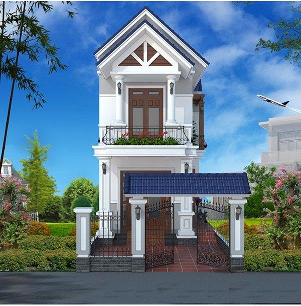 Tìm hiểu về đặc điểm của nhà 2 tầng đẹp mái thái