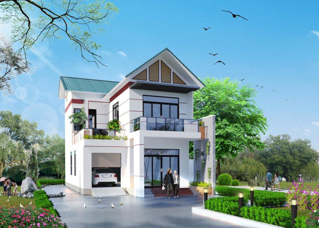 Gợi ý một số mẫu nhà 2 tầng đẹp ở nông thôn