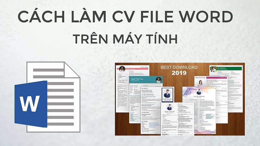 Hướng dẫn làm CV xin việc trên Word máy tính chuyên nghiệp, dễ dàng