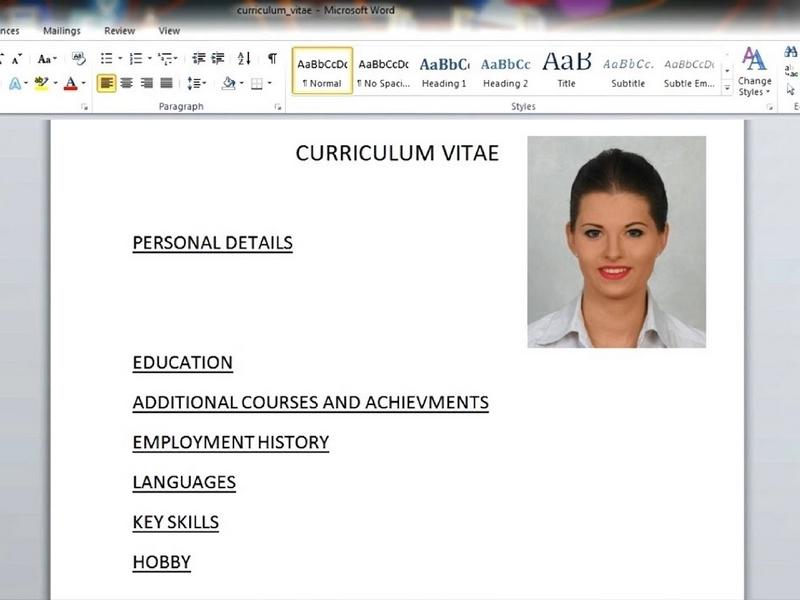Cách làm CV trên word